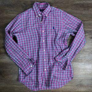 Ralph Lauren Purple Plaid Button Up Shirt